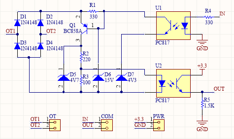 Arduino OpenThrem Adapter Schematic